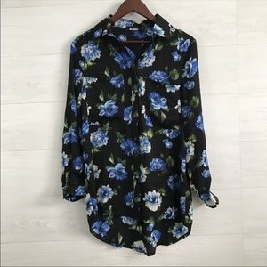 NWT Missguided floral button down